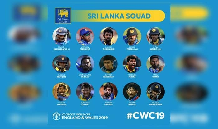 Sri Lanka Announce ICC 2019 World Cup Squad