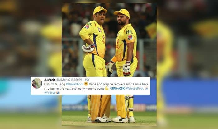 fe8b76f198cf0 IPL 2019: MS Dhoni Rested, Suresh Raina Leads CSK Against SRH at Rajiv  Gandhi International Stadium, Twitter Heartbroken | SEE POSTS