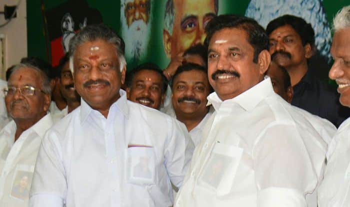 O Panneerselvam and K Palaniswami