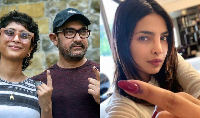 Aamir Khan with Kiran Rao and Priyanka Chopra Jonas