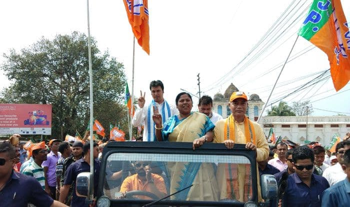 Campaigning in Tripura