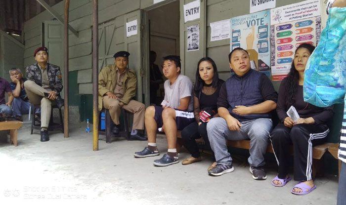 Aizawl polling station