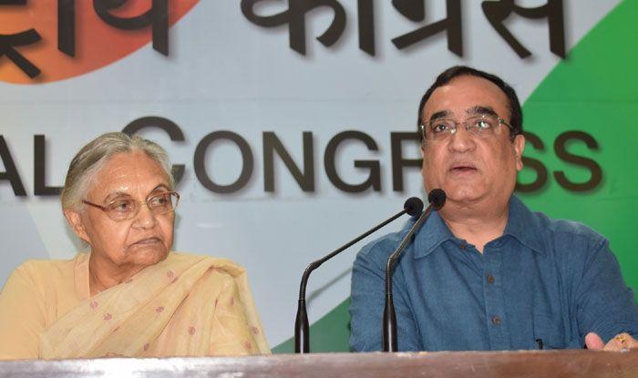 Ajay Maken with Sheila Dikshit