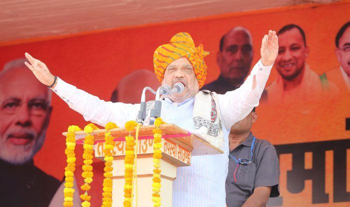 BJP president Amit Shah in Ghazipur