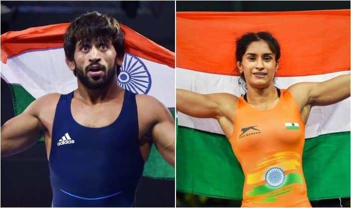 Bajrang Punia, Vinesh Phogat, Bajrang-Vinesh World Wrestling Championships, Eyes on Bajrang-Vinesh in World Championships, World Wrestling Championships, Bajrang-Vinesh medal contenders at World Championships, World Wrestling, Sushil Kumar, Pooja Dhanda, Divya Kakran, Gurpreet Singh, Wrestling Championships, Sports News