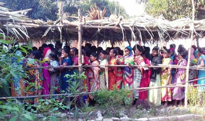 Women queue up to cast their vote in Bastar, Chhattisgarh