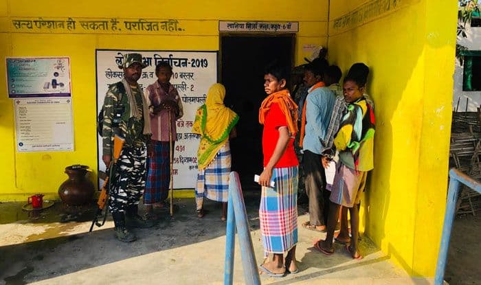 Voters in Chhattisgarh