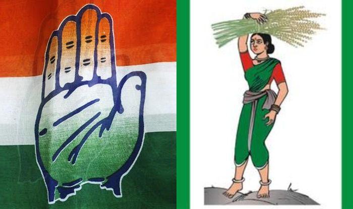 Congress and JDS symbols