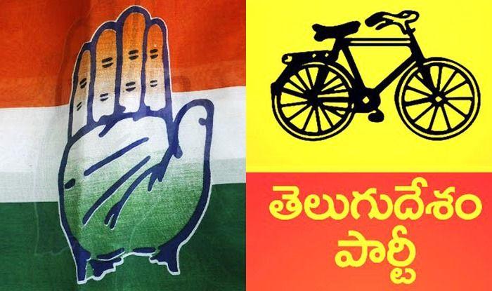 Congress and TDP logos