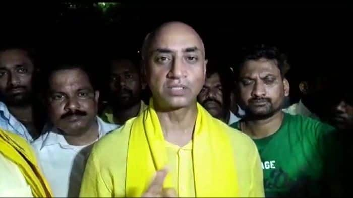 TDP MP Galla Jayadev Stages Dharna Over IT Raids, Says Targeted For Speaking Against PM