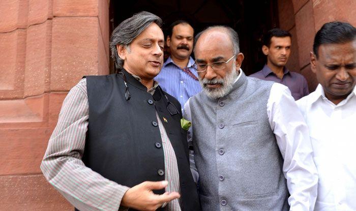 KJ Alphons and Shashi Tharoor