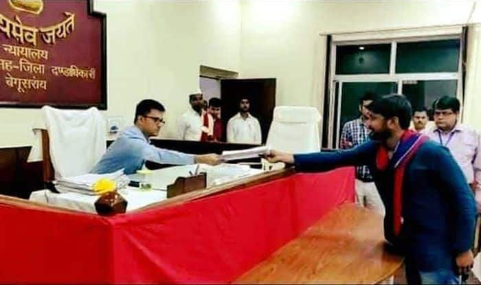 Kanhaiya Kumar files his nomination