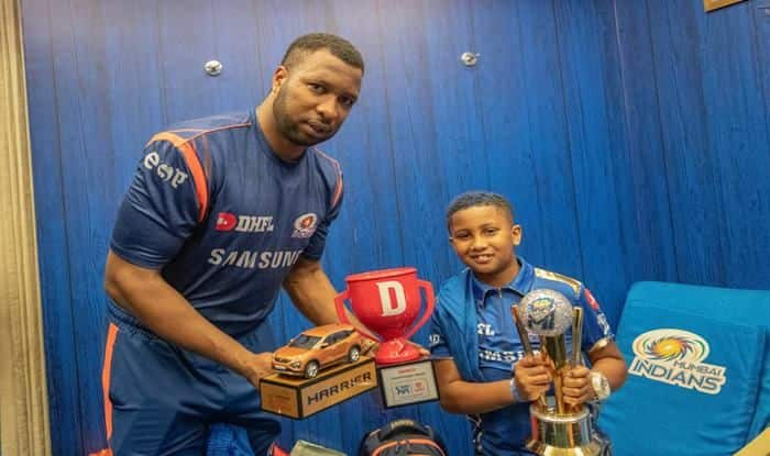 IPL 2019: Kieron Pollard And His Son Kaiden Dedicate Win Over Kings XI Punjab to Mommy Jenna | WATCH VIDEO