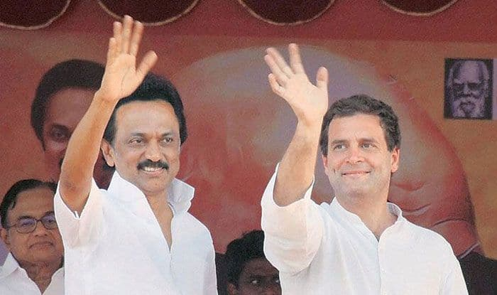 MK Stalin with Rahul Gandhi