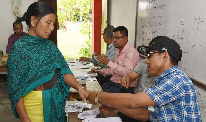 Polling in Manipur