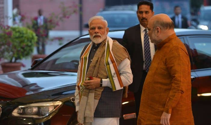 PM Narendra Modi with Amit Shah