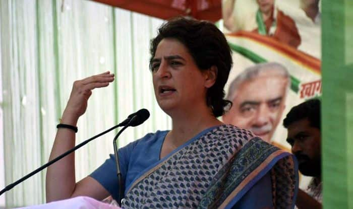 Congress leader Priyanka Gandhi Vadra in Fatehpur