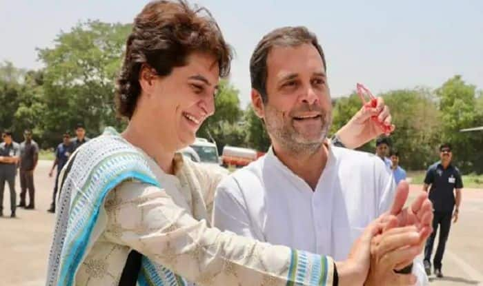 'What Does it Mean to be a Good Brother', Rahul, Priyanka Engage in Sibling Banter at Kanpur Airport – Watch