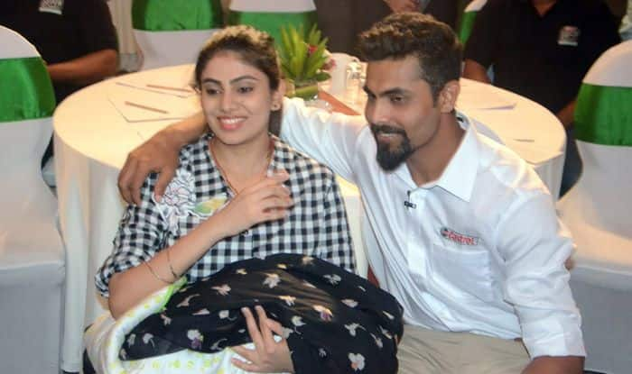 Cricketer Ravindra Jadeja and his wife Riva Solanki