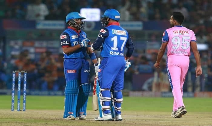 Rishabh Pant, Prithvi Shaw, IPL 2019, Indian Premier League, Delhi Capitals, Rajasthan Royals, Rajasthan vs Delhi, RR vs DC, Shikhar Dhawan, Latest Cricket News