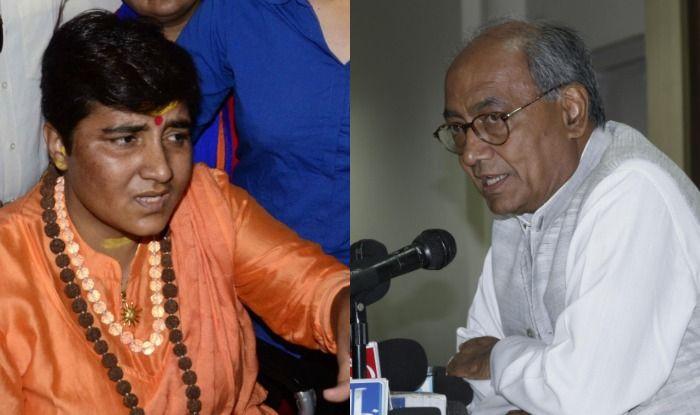 Sadhvi Pragya Singh Thakur and Digvijay Singh
