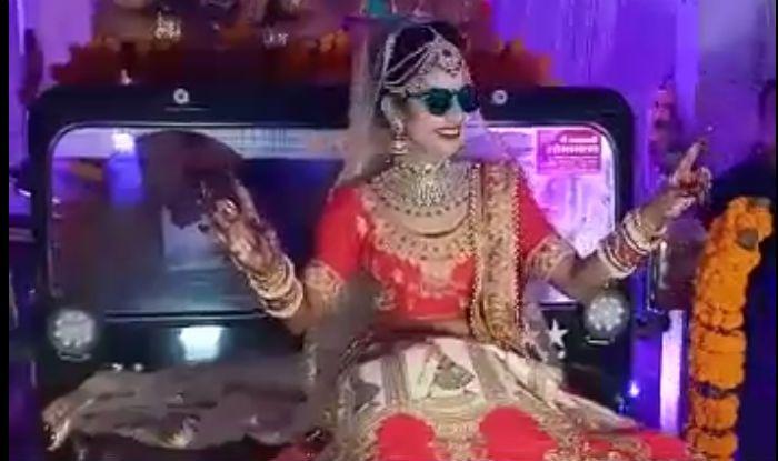 Madhya Pradesh Bride Makes Entry on Classic Jeep's Bonnet