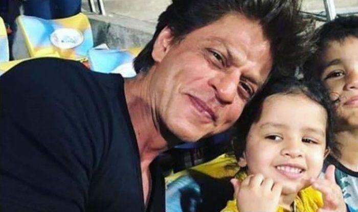 Shah Rukh Khan and Ziva Dhoni