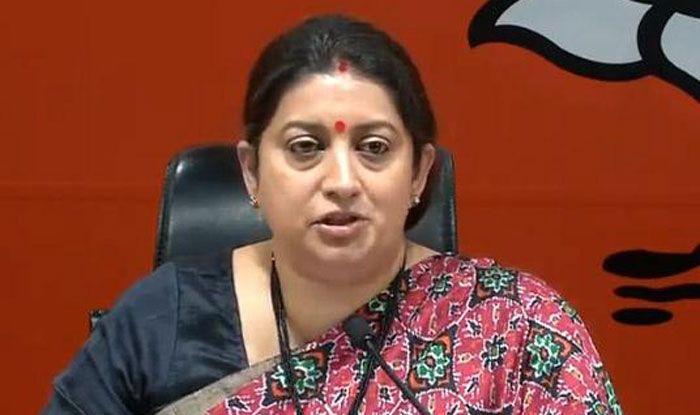BJP leader Smriti Irani