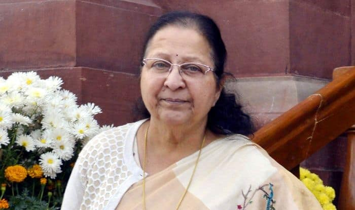 Outgoing Lok Sabha Speaker Sumitra Mahajan