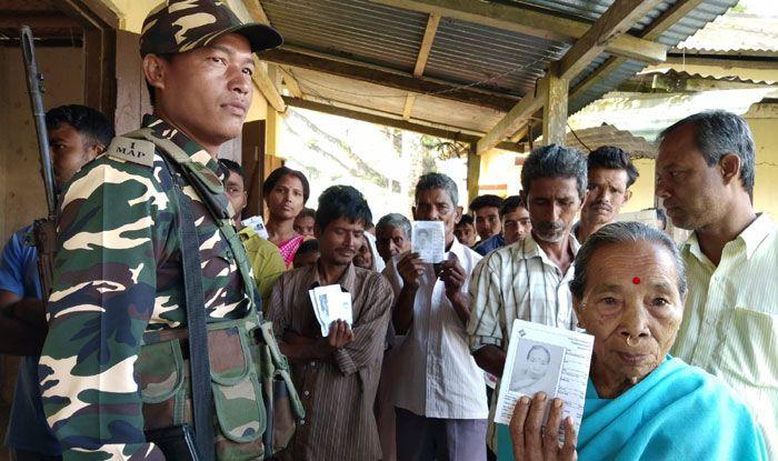Polling in Tripura