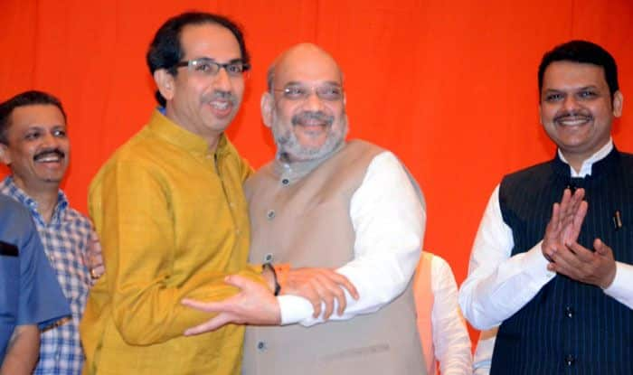 Uddhav Thackeray, Amit Shah and Devendra Fadnavis