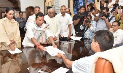 Ashok Gehlot's Son Vaibhav Gehlot Files Nomination From Jodhpur LS Seat