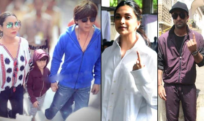 Deepika Padukone, Shah Rukh Khan, Ranbir Kapoor And Other Bollywood Celebs Vote