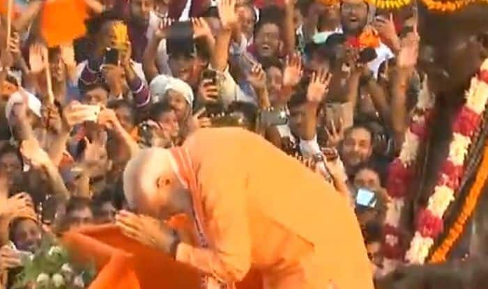 WATCH| PM Modi Folds Hands, Bows to Public in Varanasi