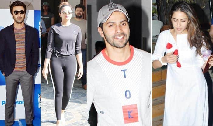 Ranbir, Sara, Malaika, Varun, Saif and Parineeti Snapped in Mumbai
