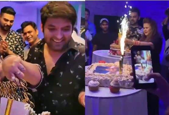 Kapil Sharma Celebrates 38th Birthday With His Mother, Wife Ginni Chatrath And Mika Singh, Watch Videos