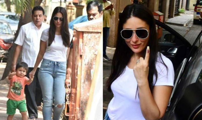 Lok Sabha Elections 2019: Taimur Ali Khan Looks Cute in Peach-Green as he Accompanies Kareena Kapoor Khan to Cast Vote