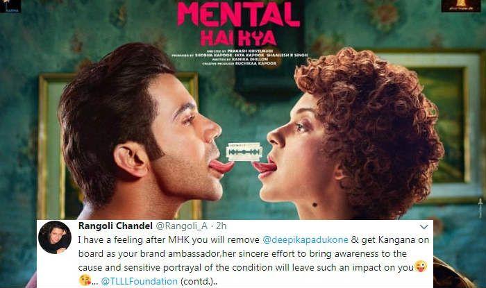 Deepika Padukone's TLLL Foundation Condemns Mental Hai Kya, Kangana Ranaut's Spokesperson Rangoli Chandel Defends
