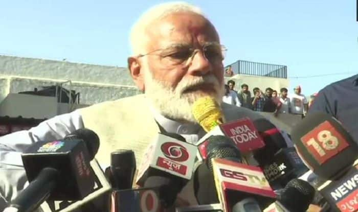 PM Modi Seeks Mother's Blessing Before Casting Vote in Ahmedabad's Ranip
