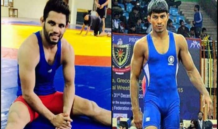 Amit Dhankar, Rahul Aware, Asian Wrestling Championships