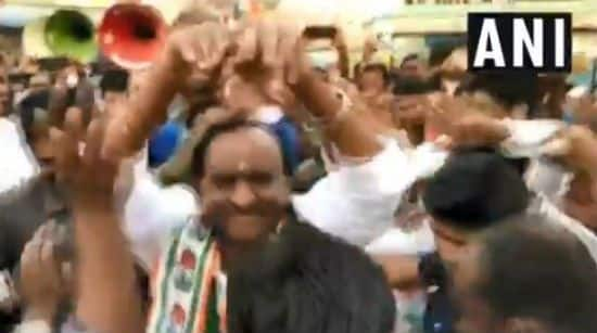 Karnataka Housing Minister MTB Nagaraj Performs Naagin Dance During Campaign For Votes, Watch