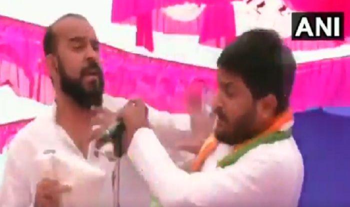 Congress Leader Hardik Patel Slapped at Jan Akrosh Rally in Gujarat's Surendernagar, Accused Detained