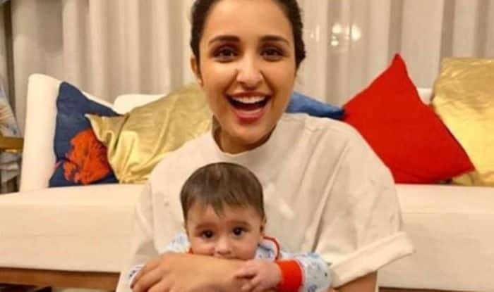 Parineeti Chopra with Sania Mirza's son