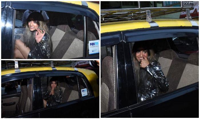 Ananya Birla Looks Drop-Dead Gorgeous in Short Bling Dress as She Enjoys 'Kaali-Peeli Ride' in Cab