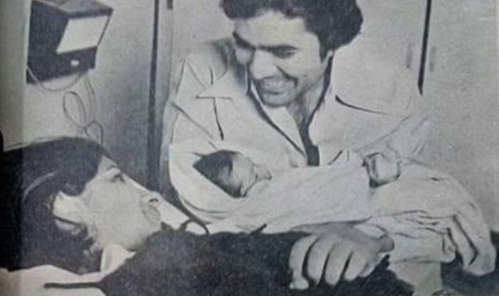 Baby Twinkle with Rajesh Khanna and Dimple Kapadia
