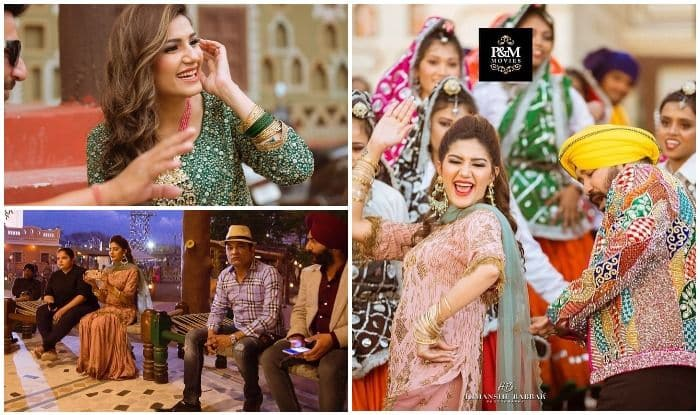 Sapna Choudhary Sets Internet on Fire With Viral BTS Pictures From Bawli Tared Song With Daler Mehndi
