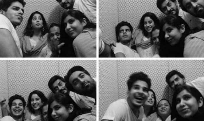 Janhvi Kapoor, Ishaan Khatter with friends