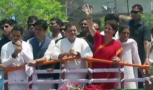 Flanked by Robert, Priyanka Vadra, Rahul Gandhi Files Nomination From Amethi