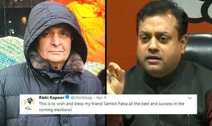 Rishi Kapoor Tweets in Support of BJP's Sambit Patra Ahead of Lok Sabha Elections 2019