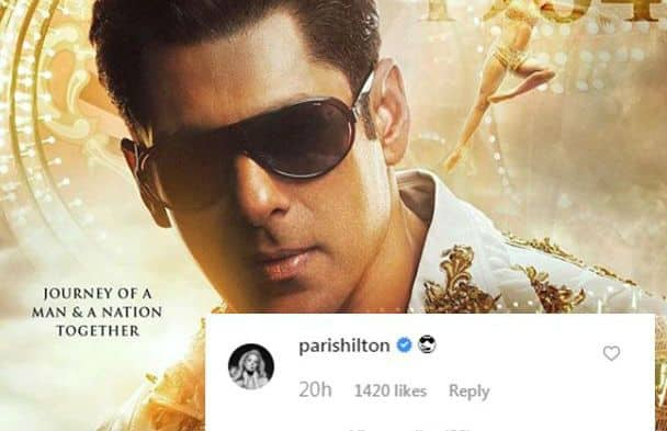 Salman Khan's Young Look From Bharat Poster Impresses Paris Hilton, Check Her Reaction